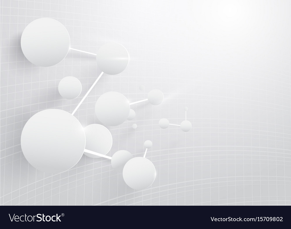 Abstract dna molecules structure in white tone vector image