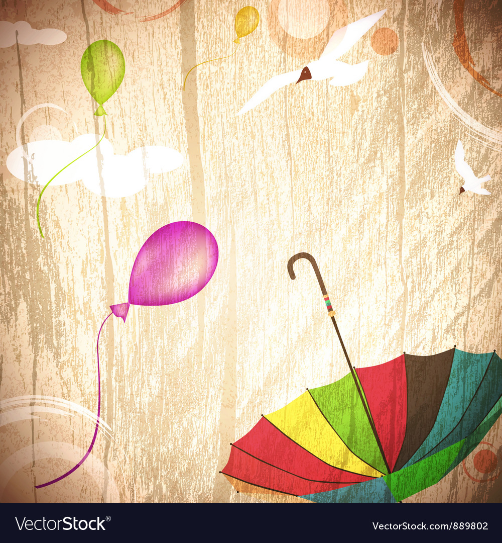 Abstract summer holiday background vector image