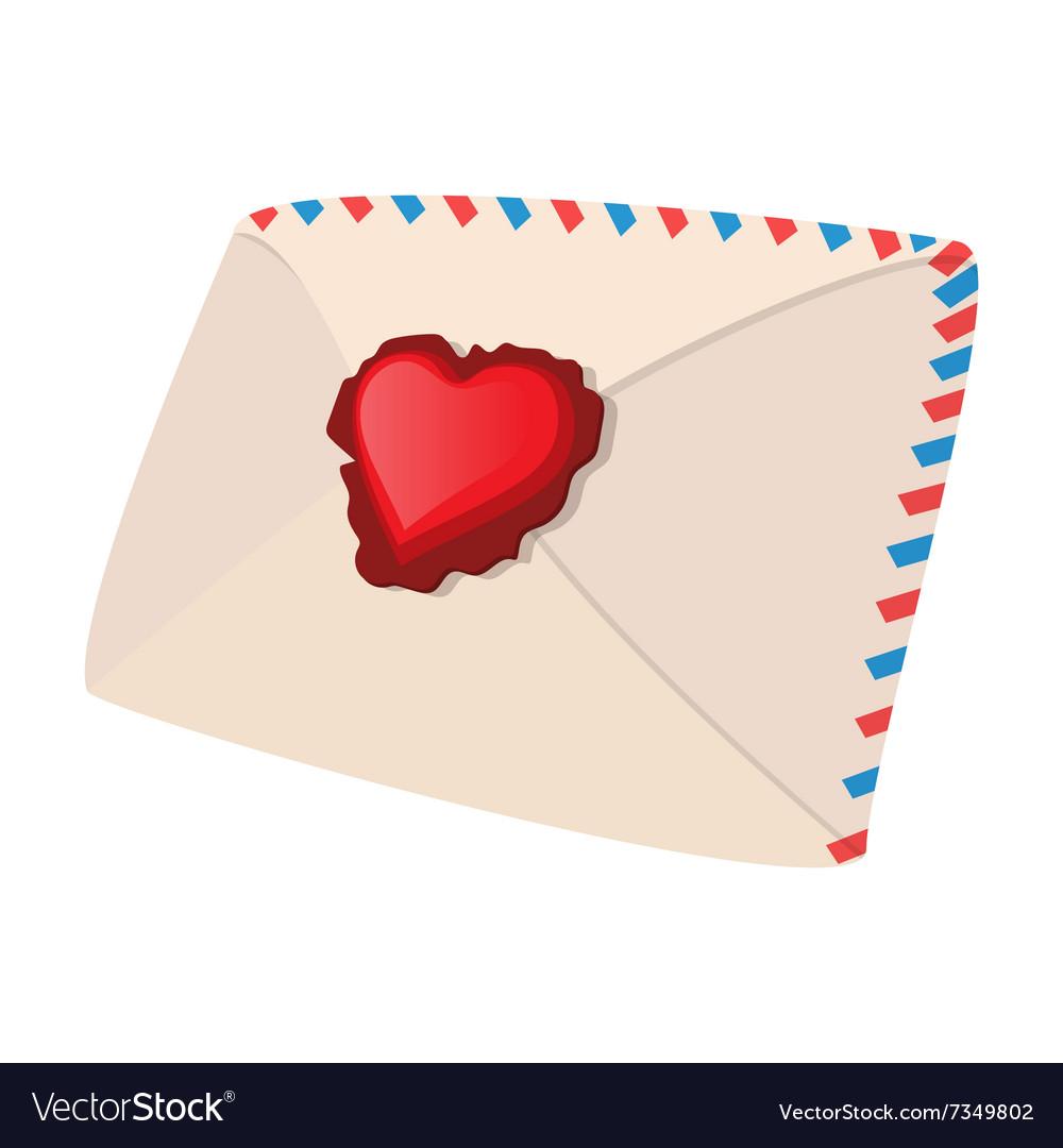 Envelope and heart cartoon icon