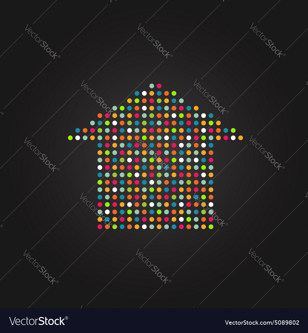 House in color dots