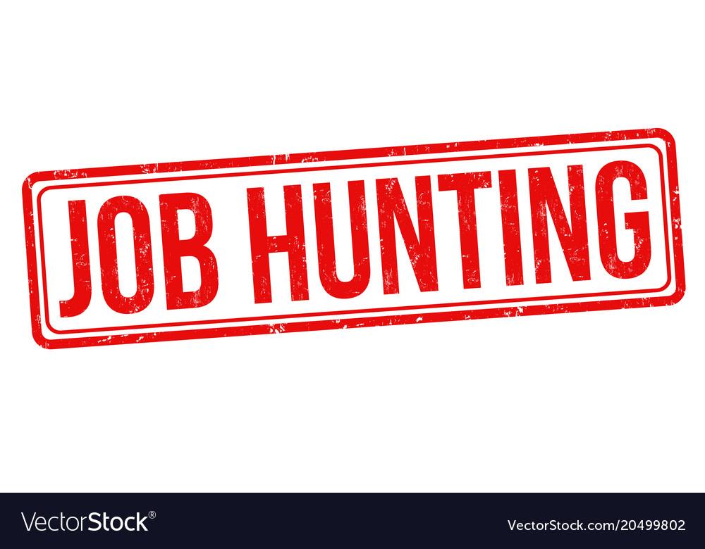 Job hunting grunge rubber stamp