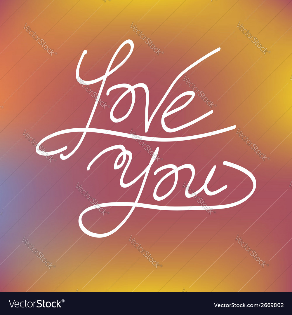 Love you greeting card concept