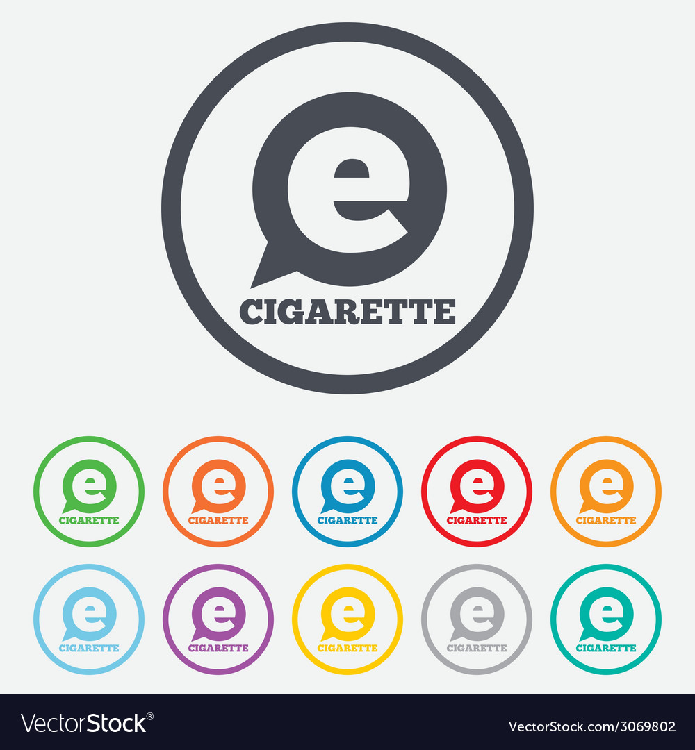 smoking sign icon e cigarette symbol royalty free vector