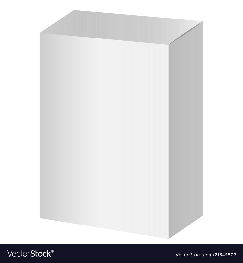 White blank cardboard package boxes mockup
