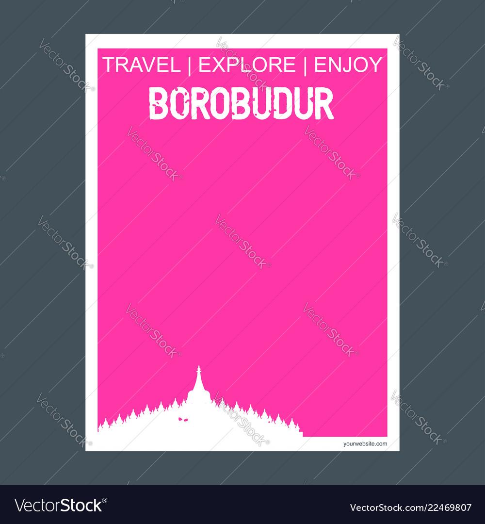 Borobudur jawa tengah indonesia monument landmark
