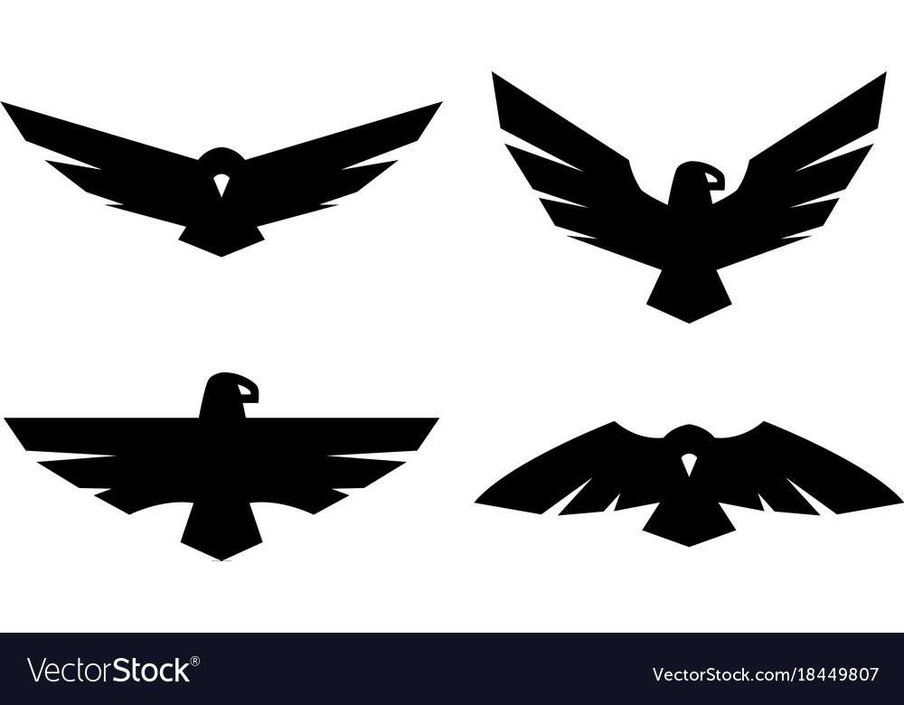 Eagle a set of monochrome logos