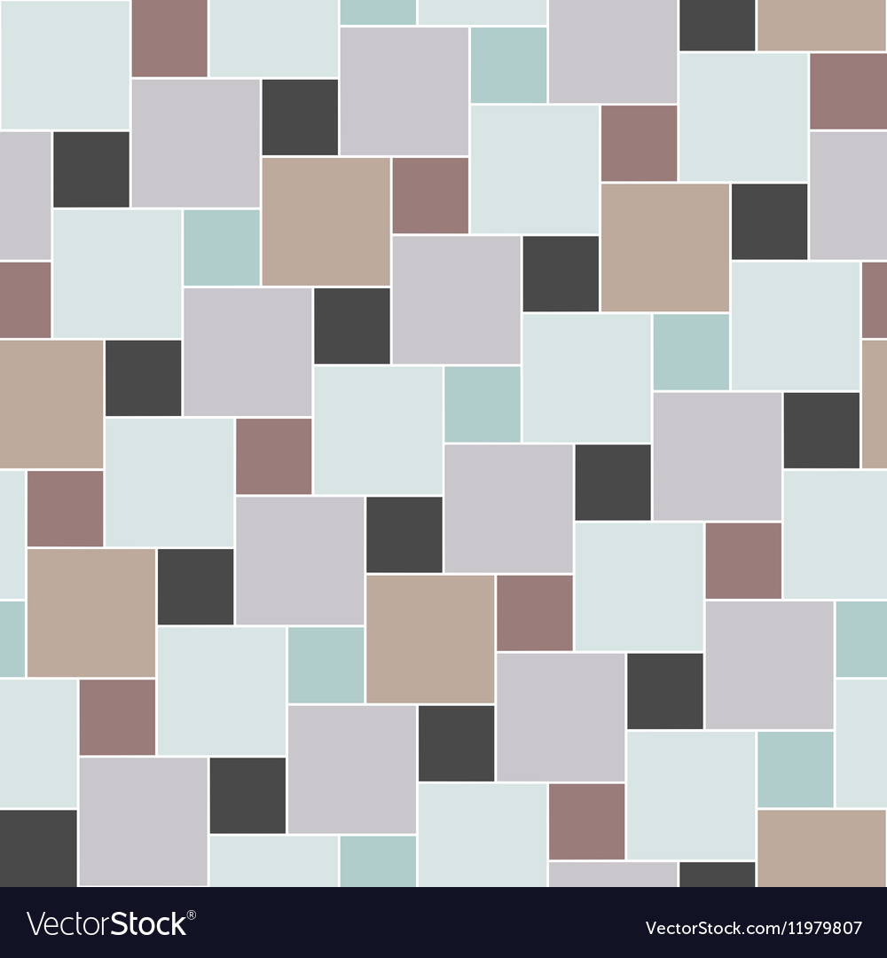 Pastel colored tiles seamless pattern