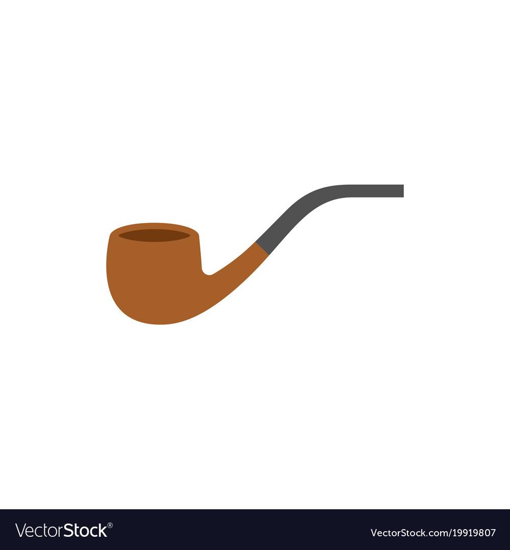 Pipe tobacco icon flat design