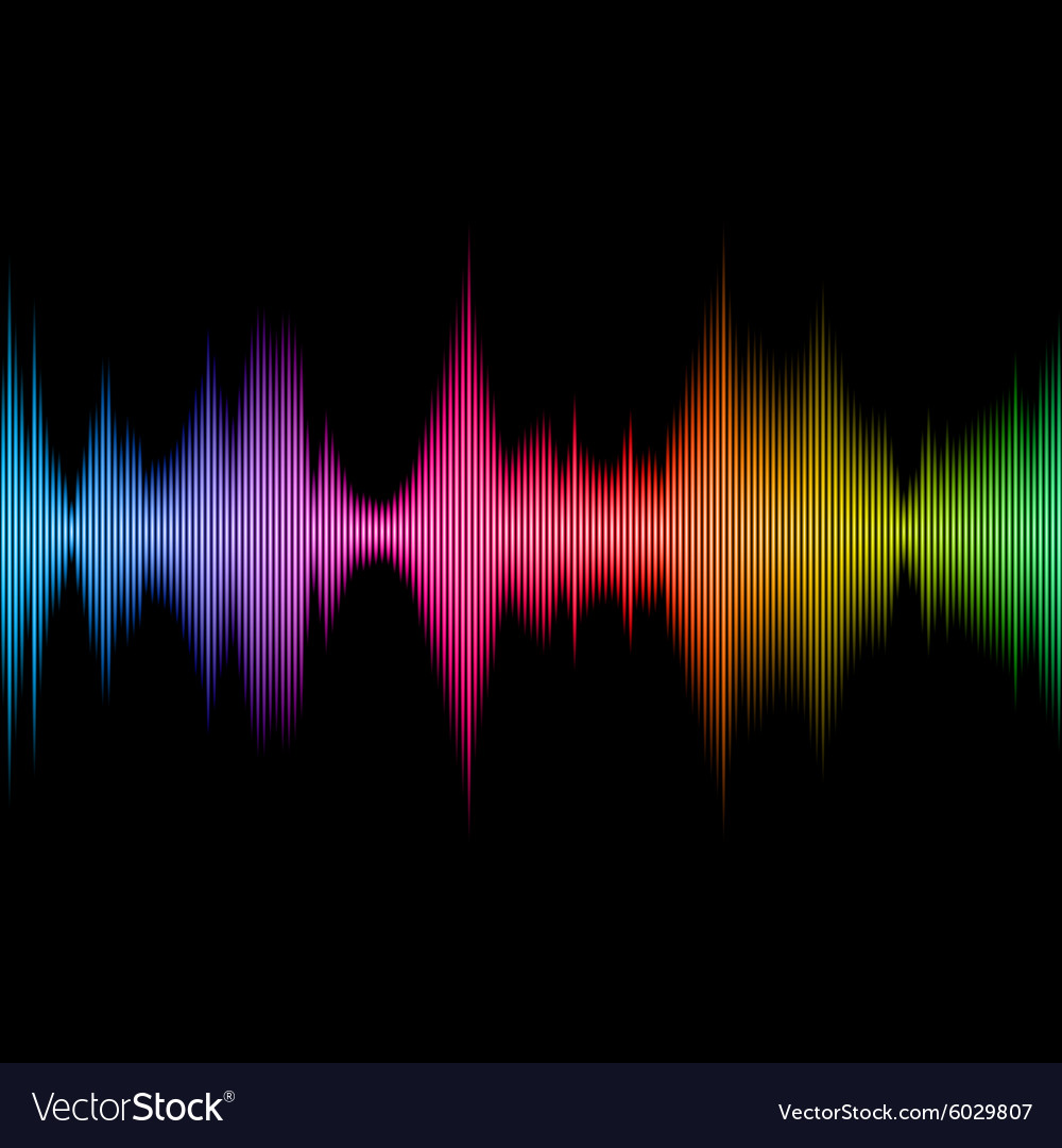 Rainbow Sound Equalizer Colorful Musical Bar on