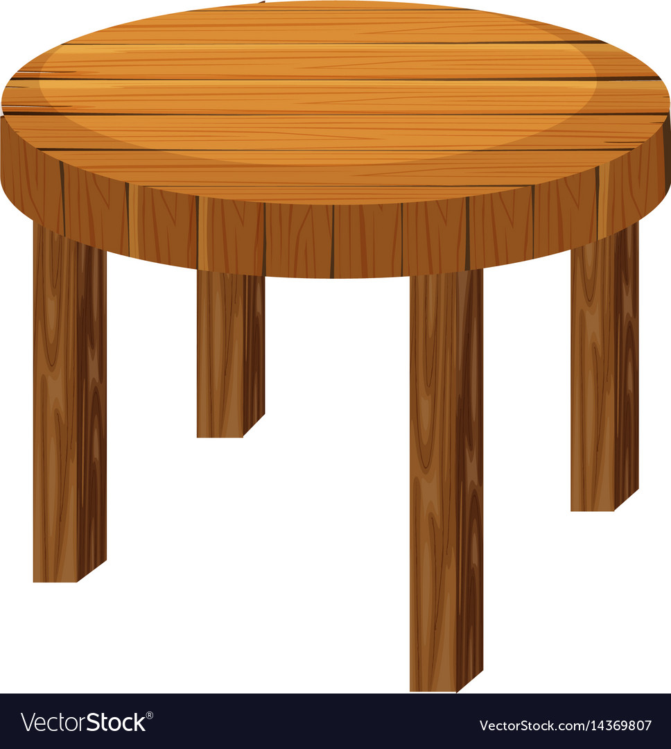 Magnificent Round Wooden Table On White Background Pabps2019 Chair Design Images Pabps2019Com