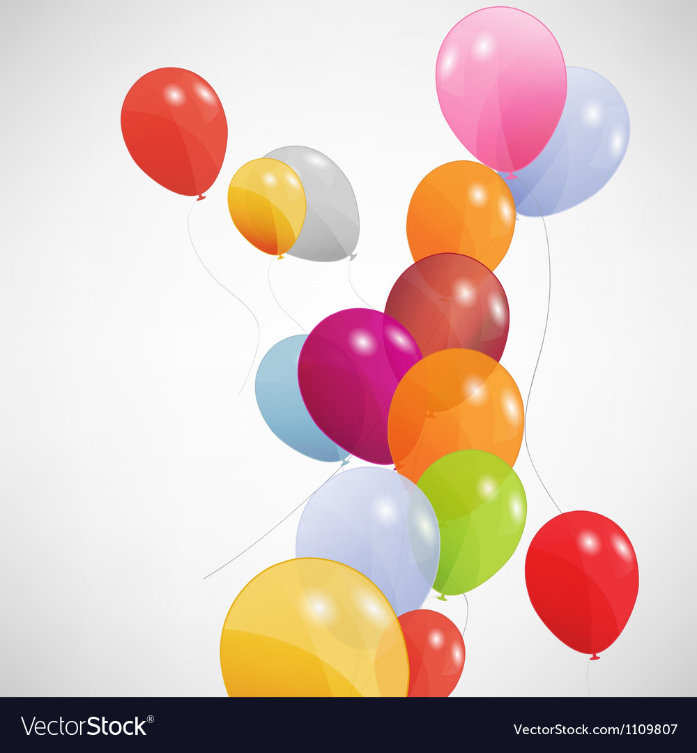 set of colored balloons eps 10 royalty free vector image