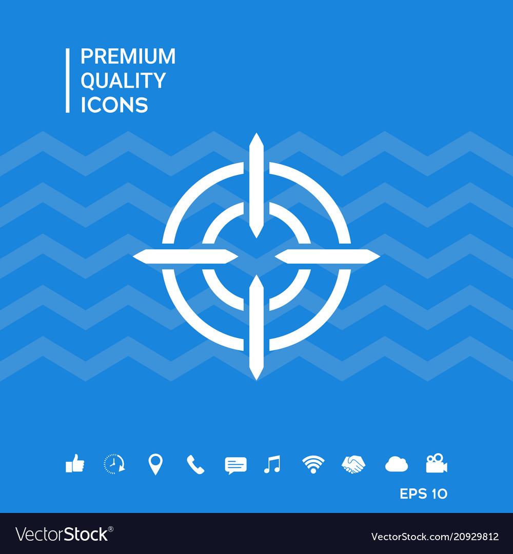 aim icon symbol royalty free vector image vectorstock aim icon symbol royalty free vector image vectorstock