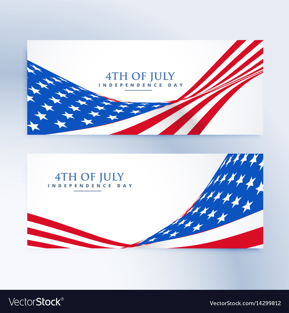 American independence day 4th july banners