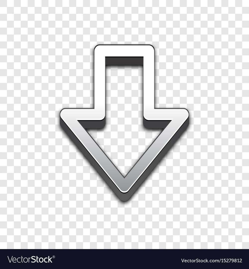 Arrow 3d icon raised symbol