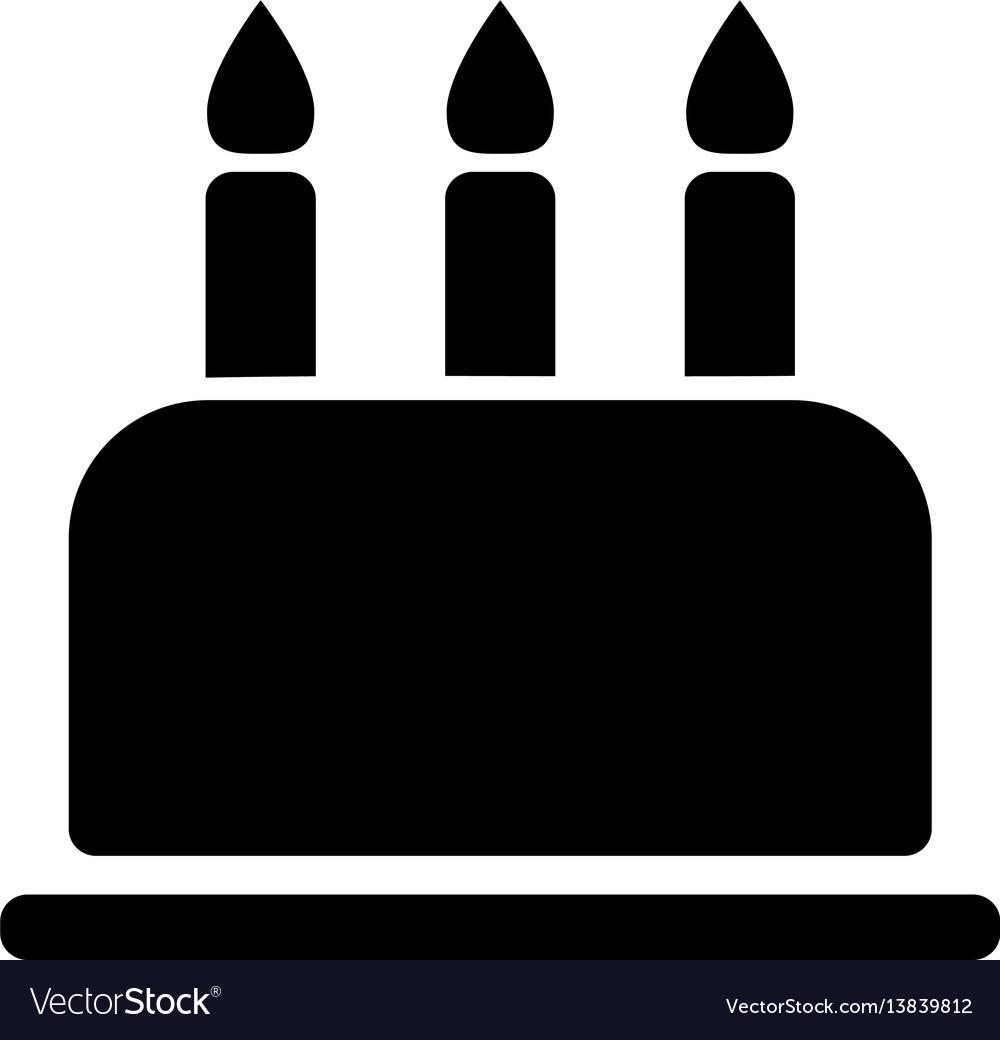 Birthday cake flat icon vector image