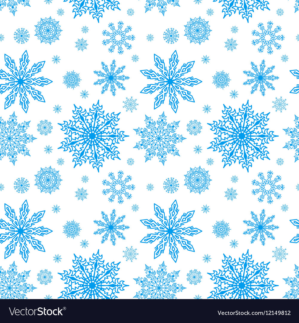 Blue seamless pattern with snowflakes to christmas