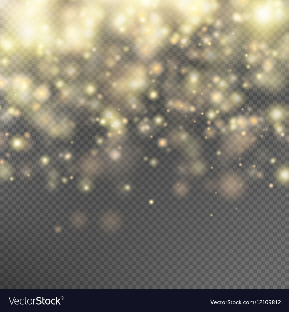Gold glitter particles effect EPS 10