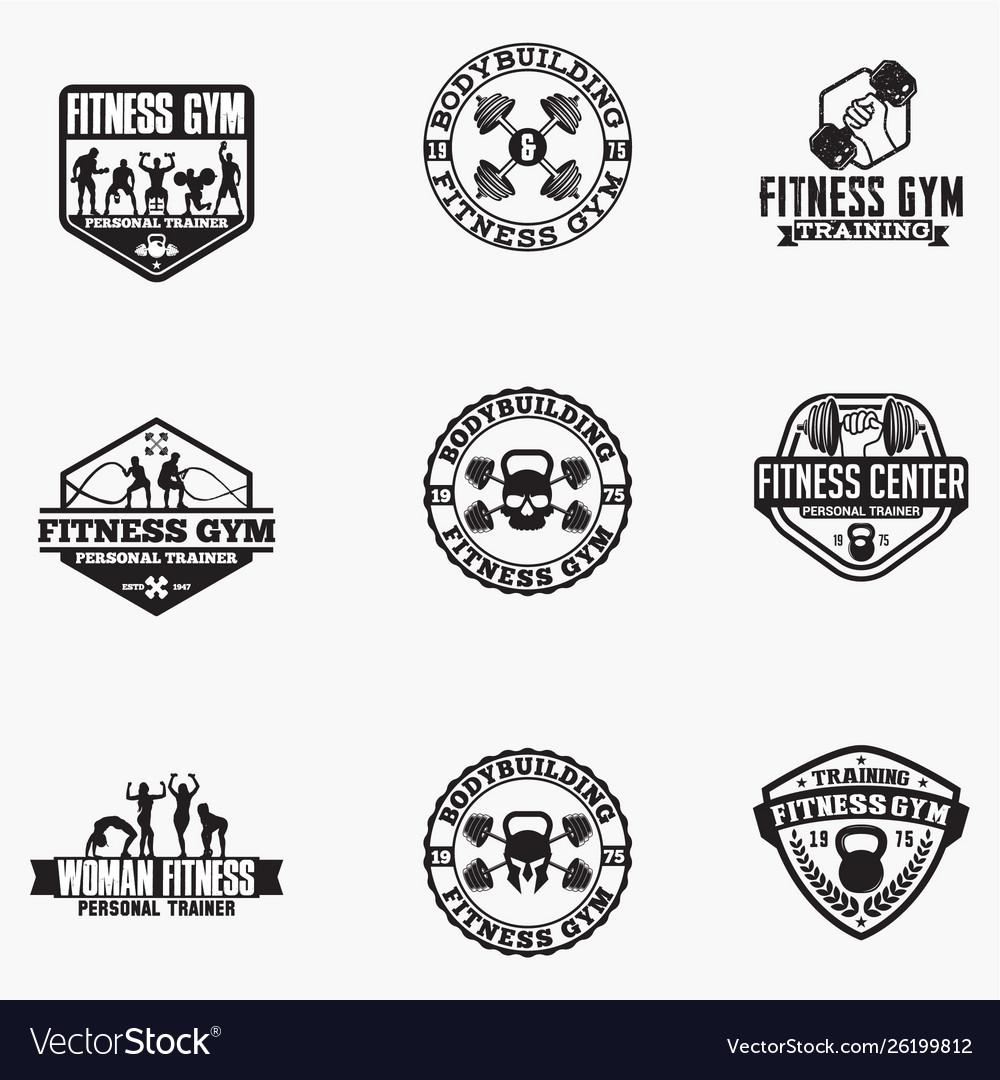 Gym logo badge