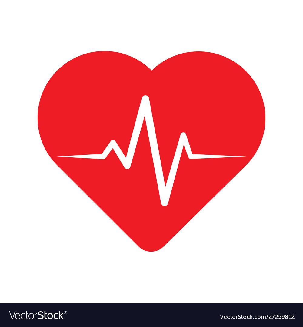 Heartbeat line in heart