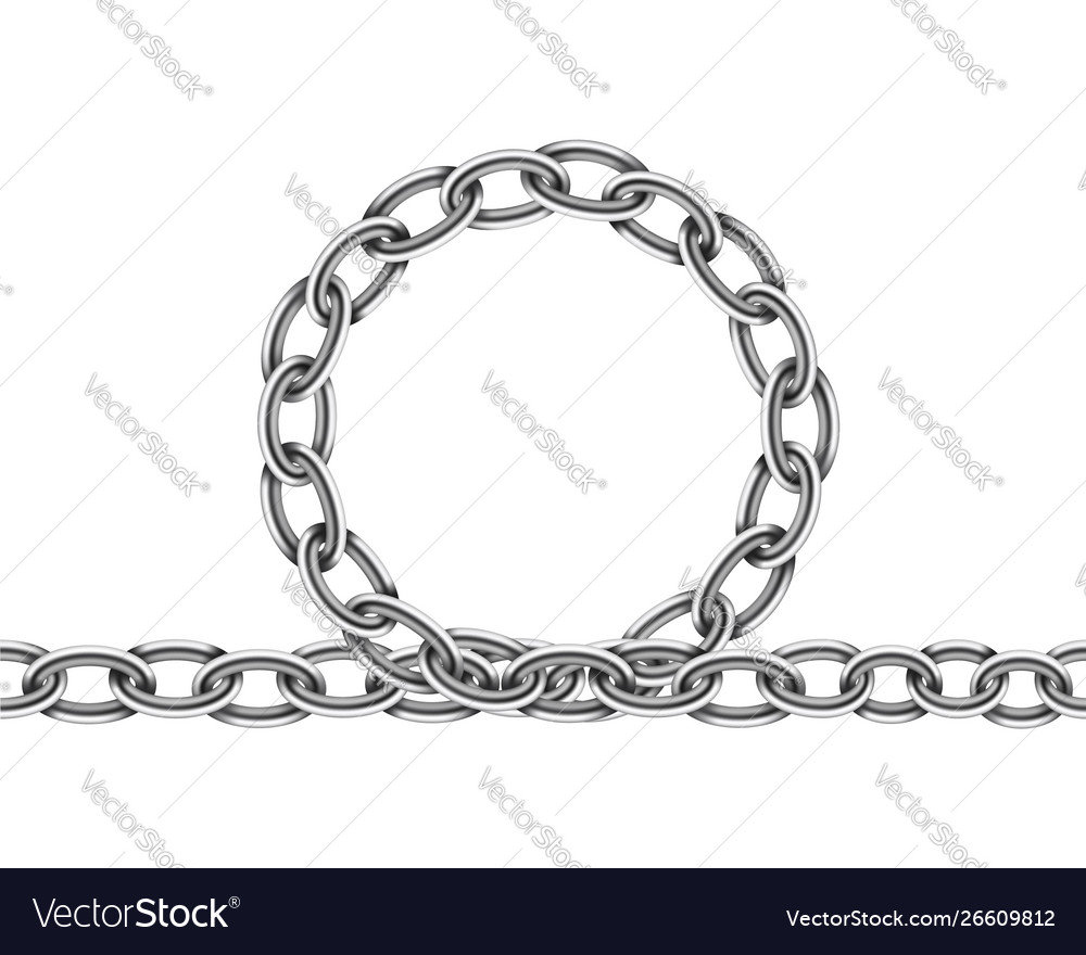 Realistic metal chain texture silver color chains