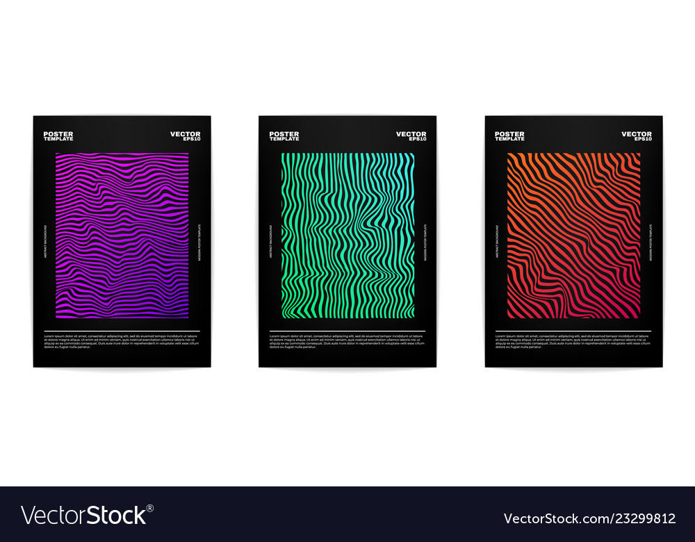Three modern posters