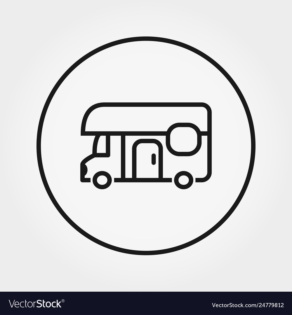 Van house on wheels camping icon