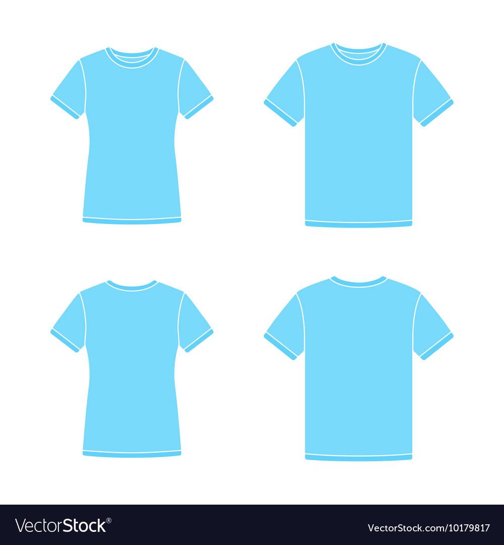 Blue Short Sleeve T Shirts Templates Vector Image