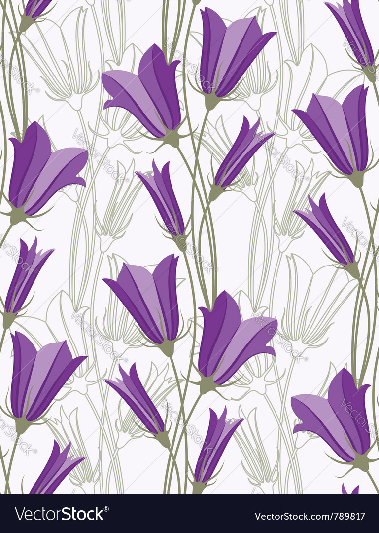 Bluebells - seamless pattern