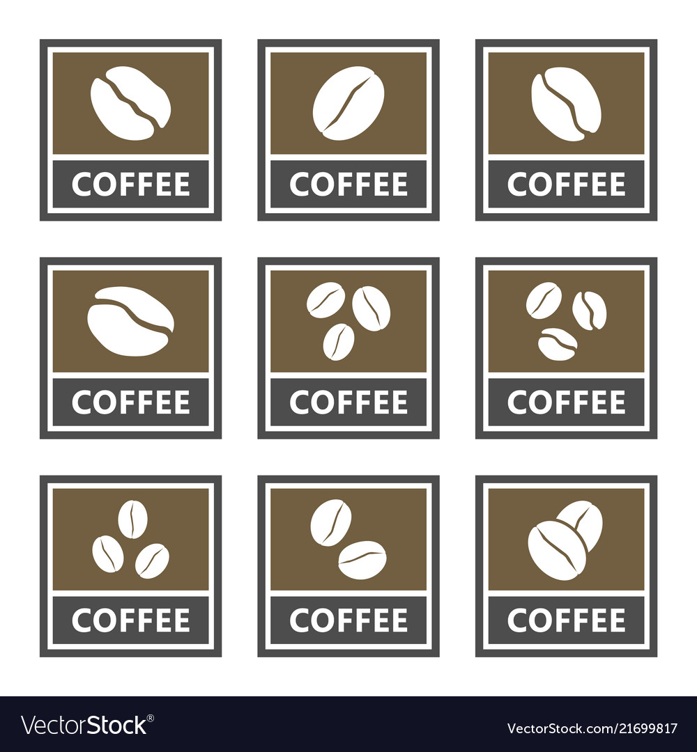 Coffee signs and icons set for cafes and shops