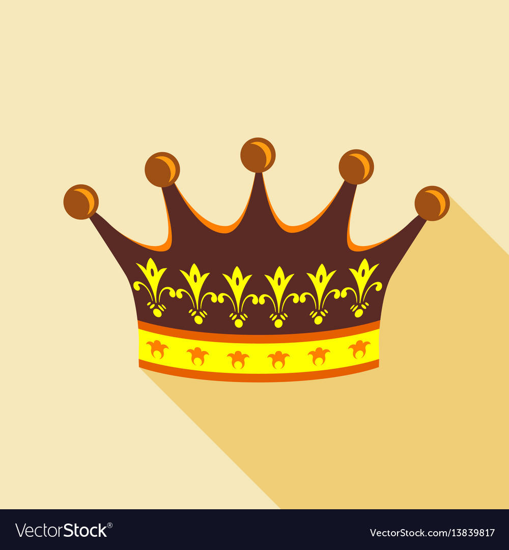 Crown icon flat style