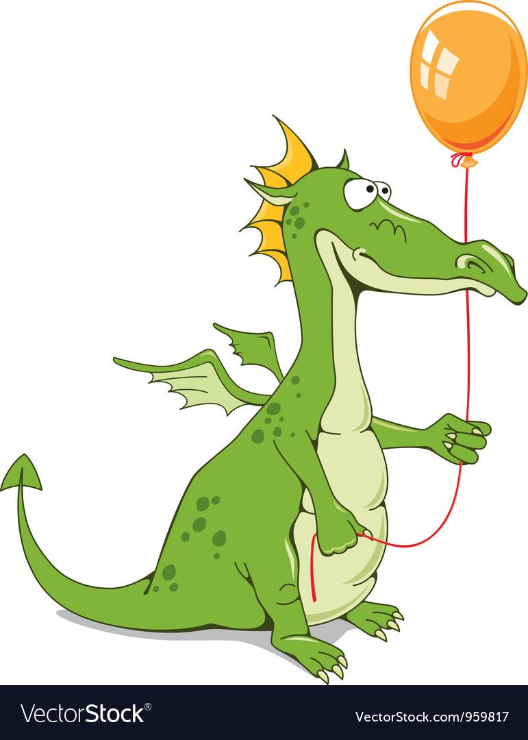 Funny dragon vector image