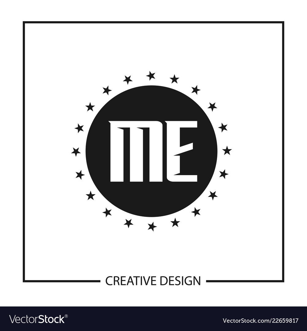 initial letter me logo template design royalty free vector