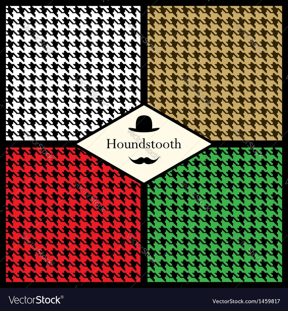 Set houndstooth check patterns