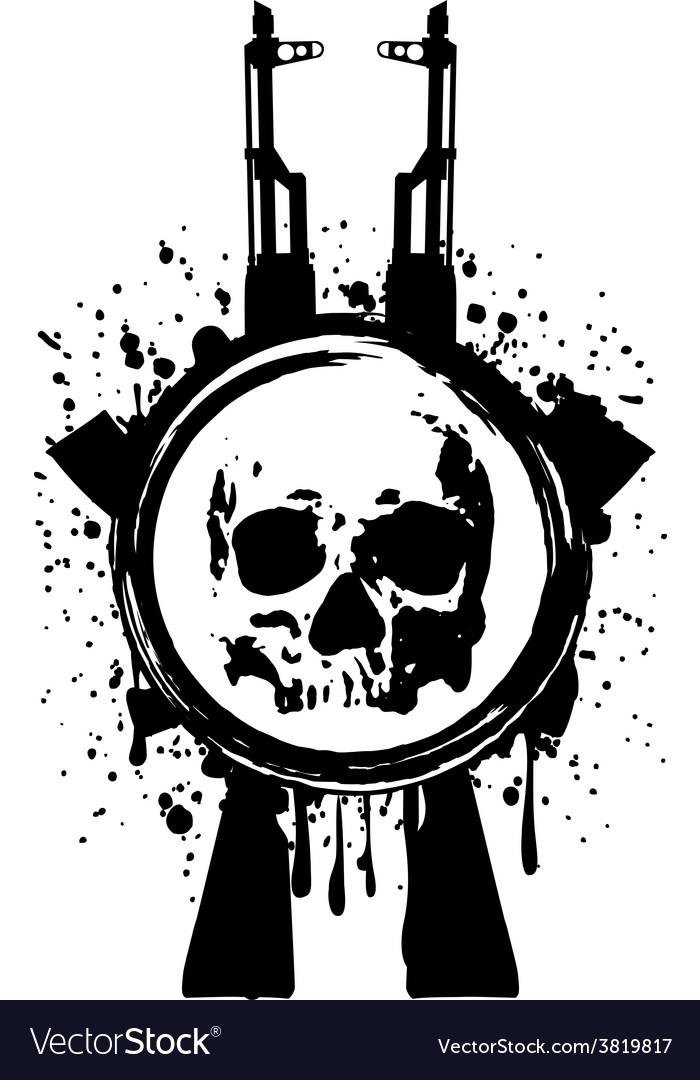 Skull ak blood