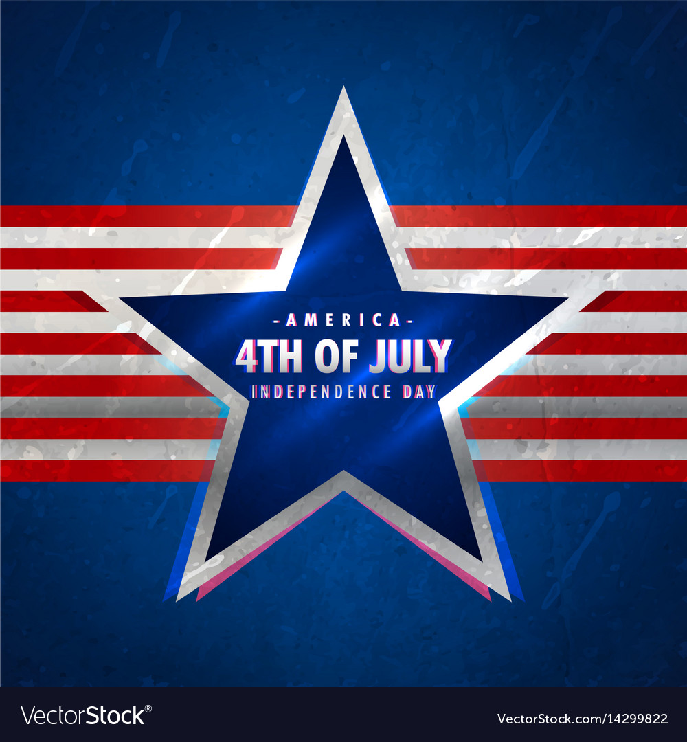 4th july background with star and red stripes