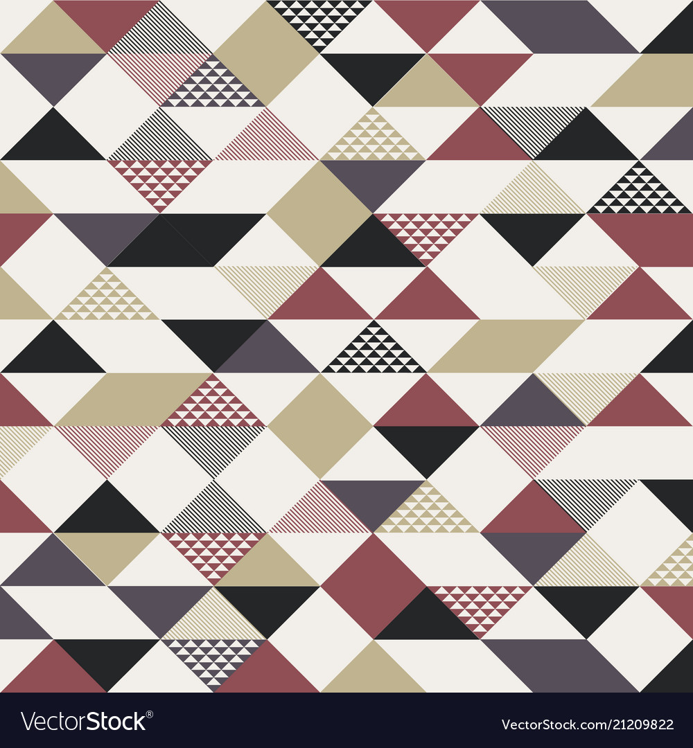 Abstract retro style triangles pattern with lines