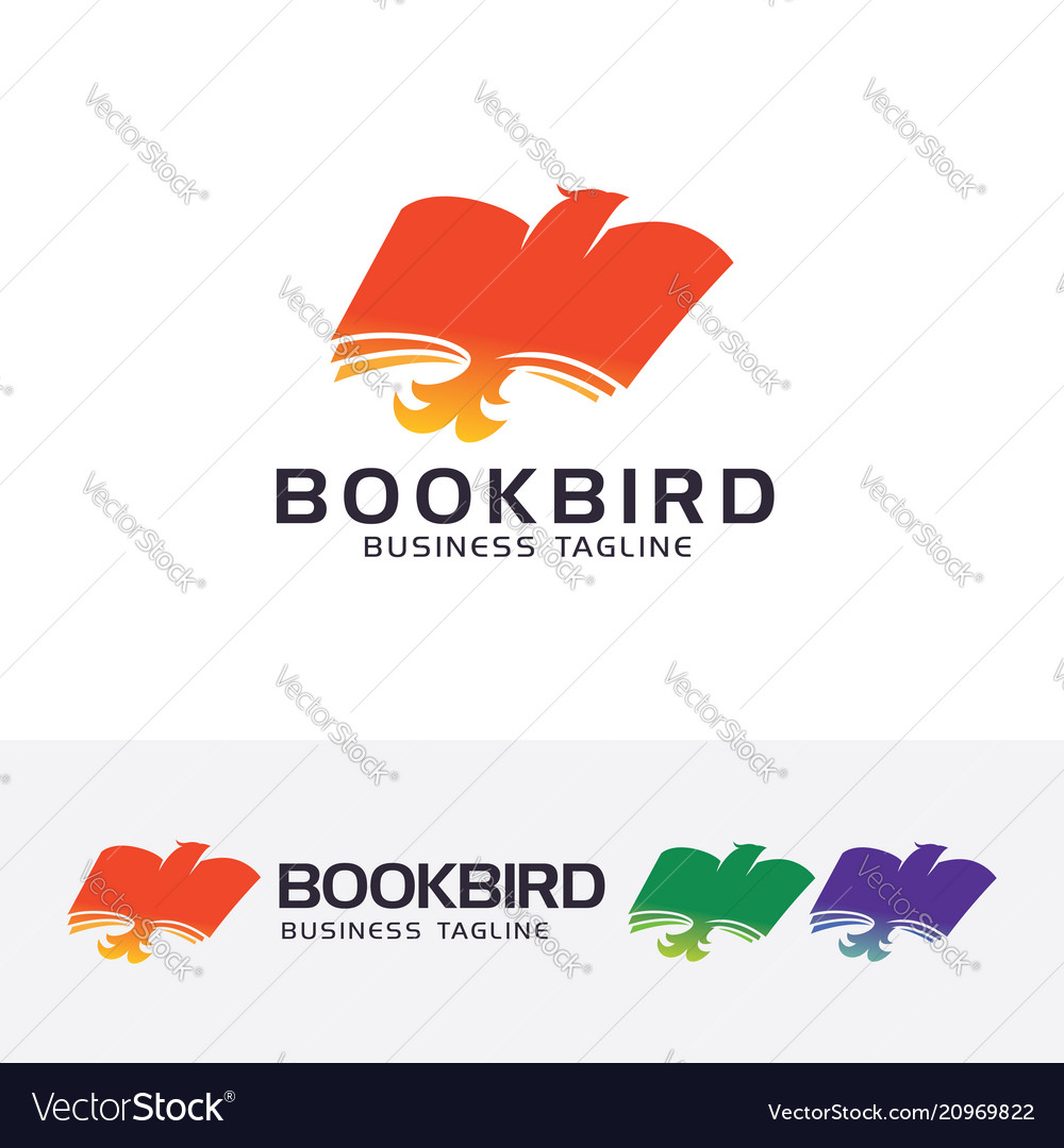 Book bird logo design vector image