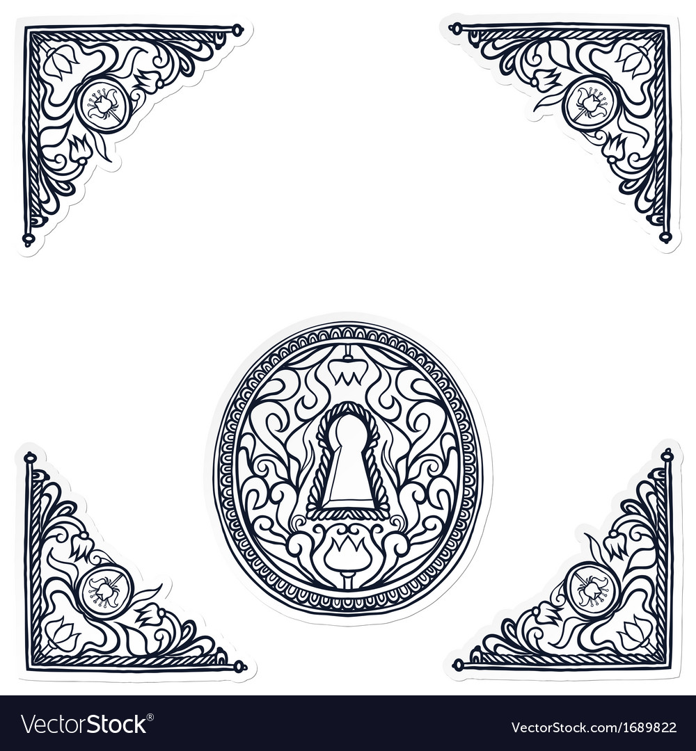 Detailed of highly decorated keyhole