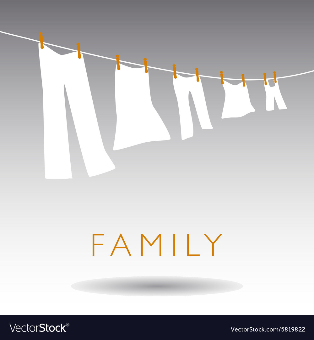 Family Clothsline vector image