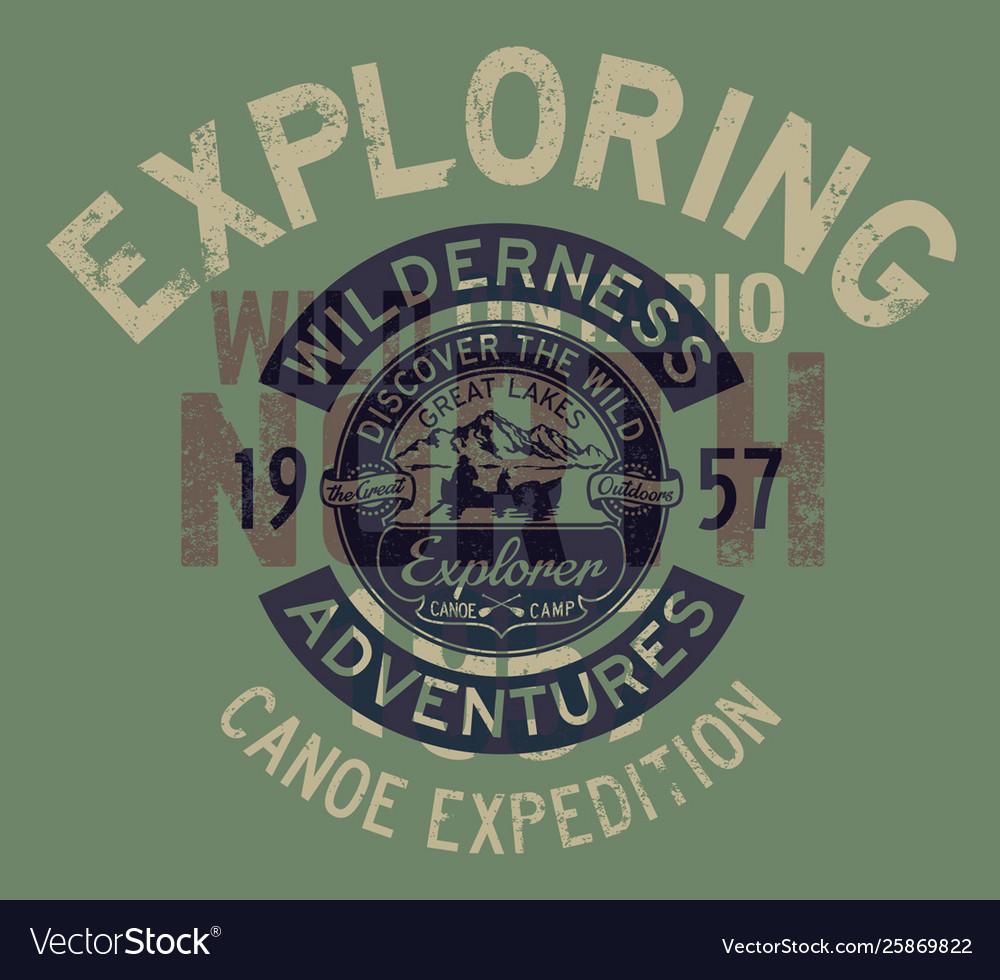 Great lakes canoe trip exploring adventure