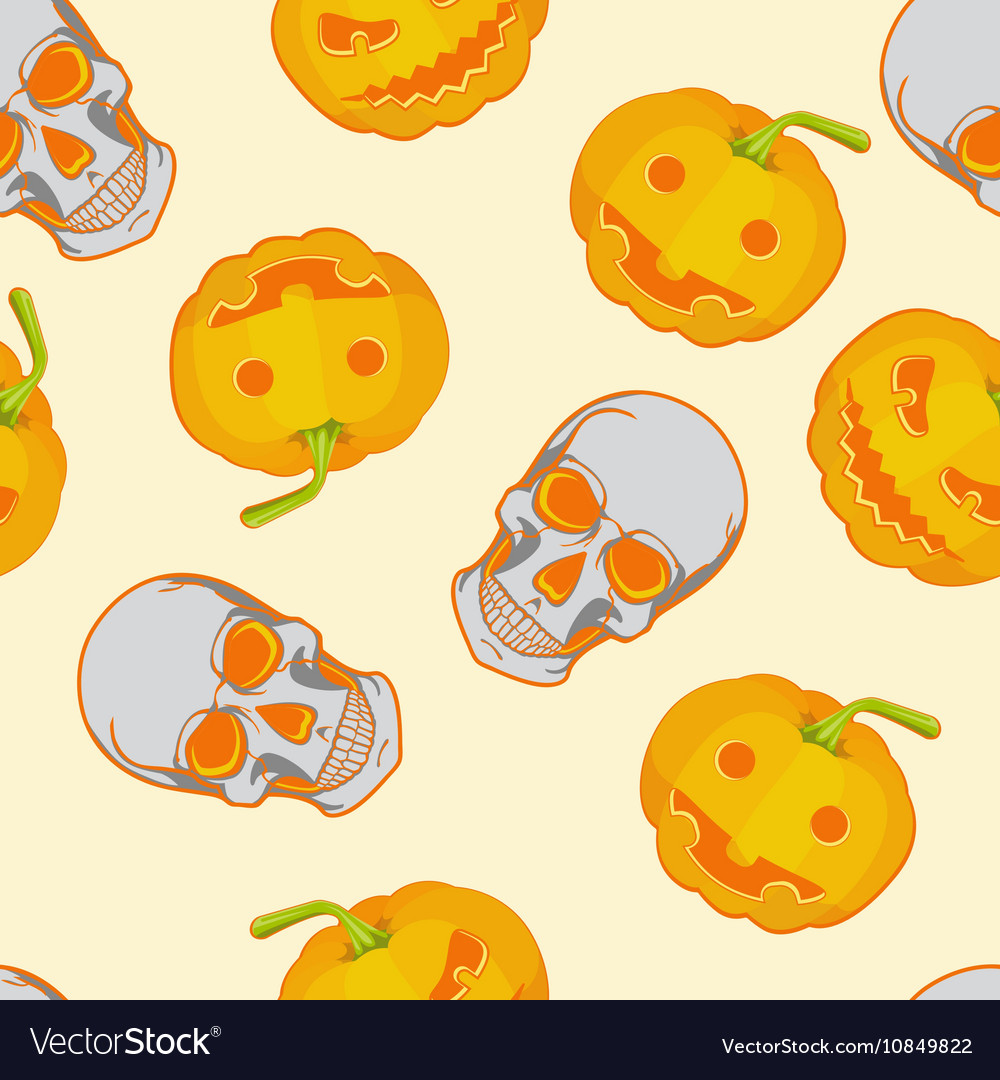 Halloween seamless bright kids cartoon pattern