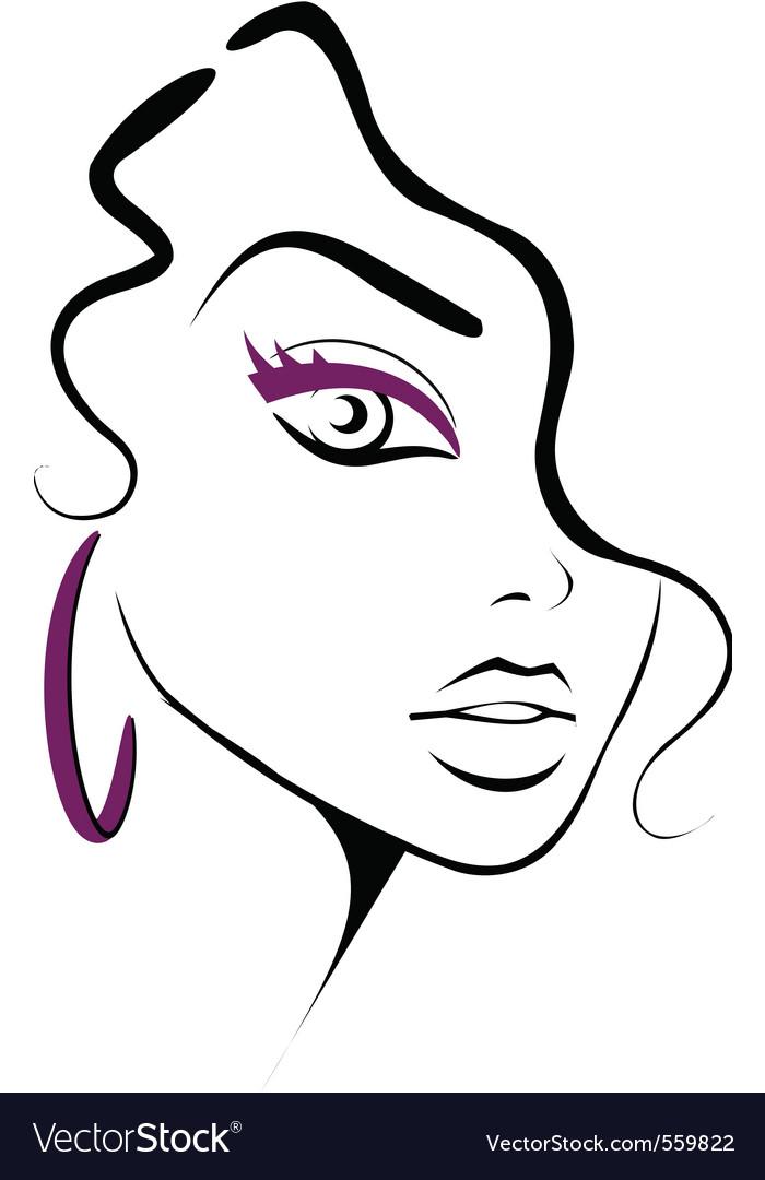 Makeup icon vector image