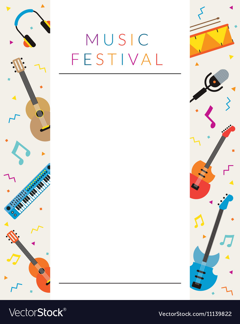 Music Instruments Objects Poster