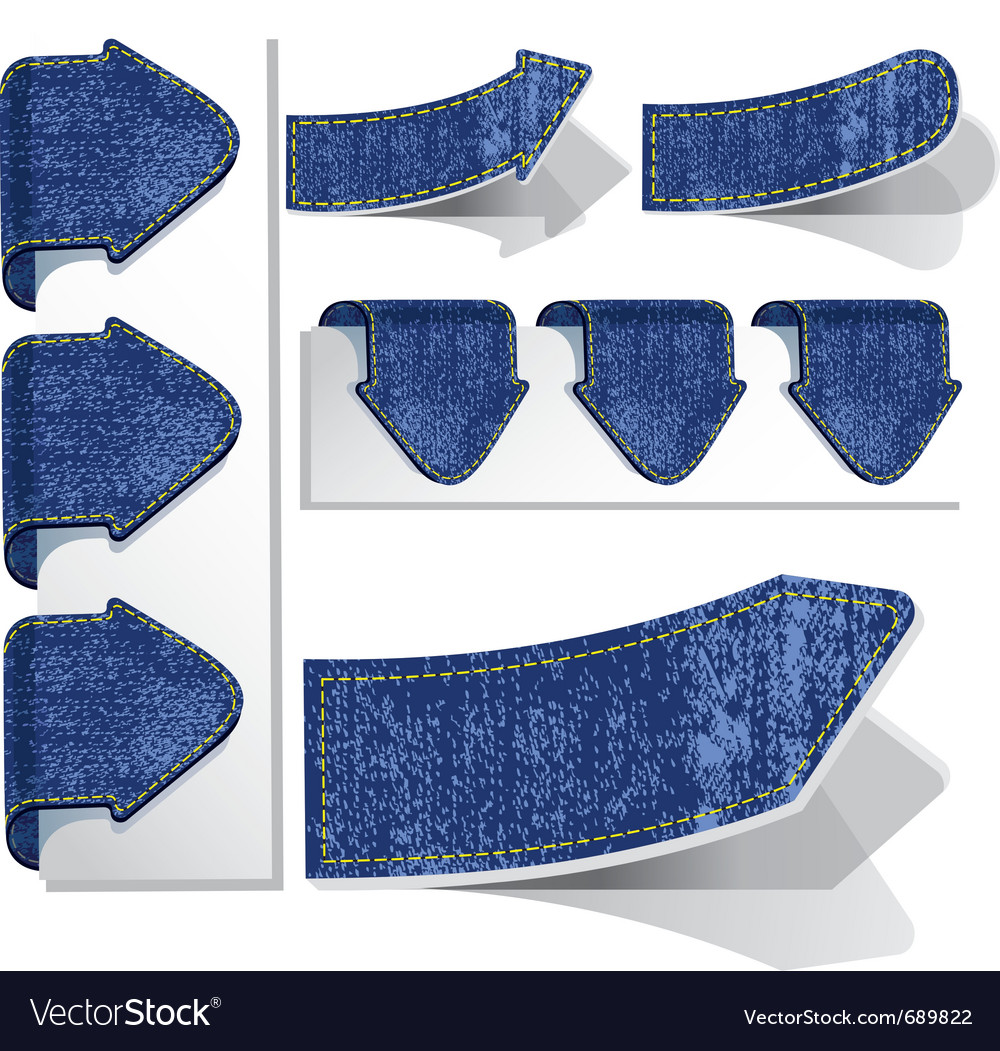 Set of jeans arrows vector image