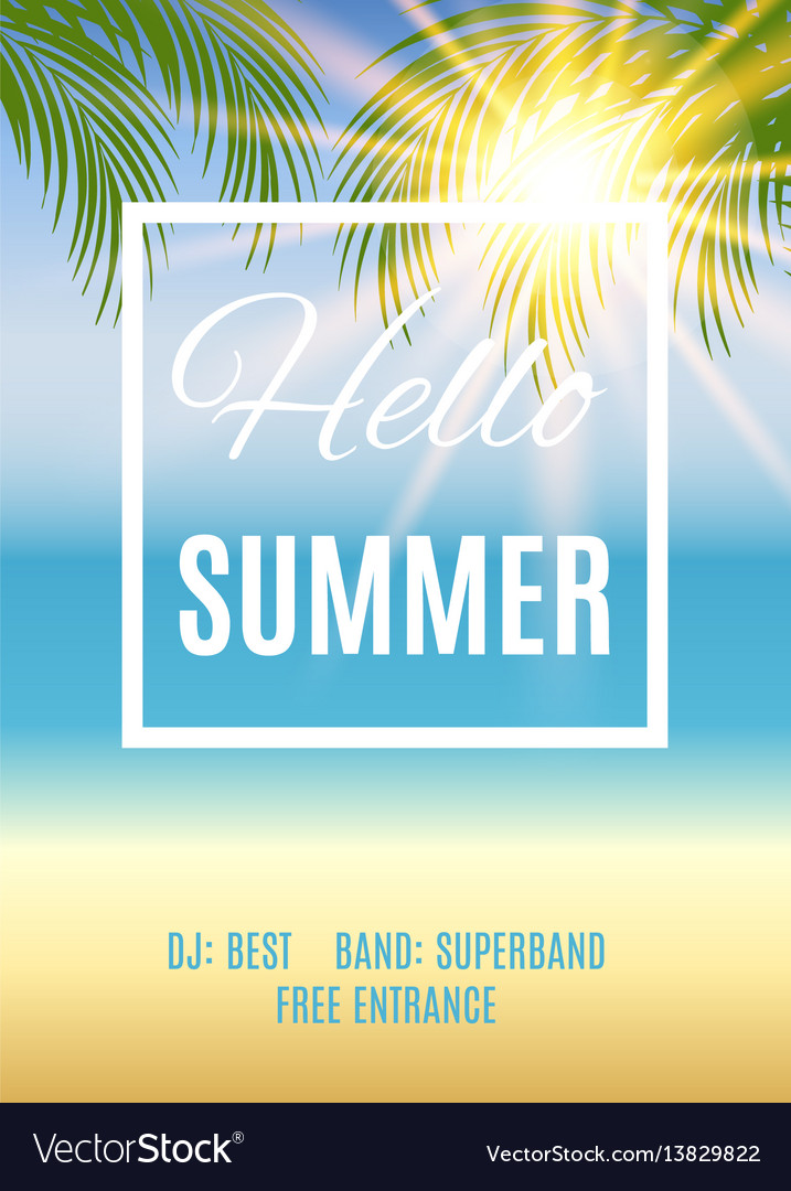 Summer party poster background