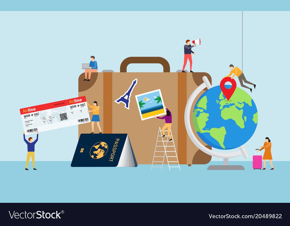 Travel planning travel concept