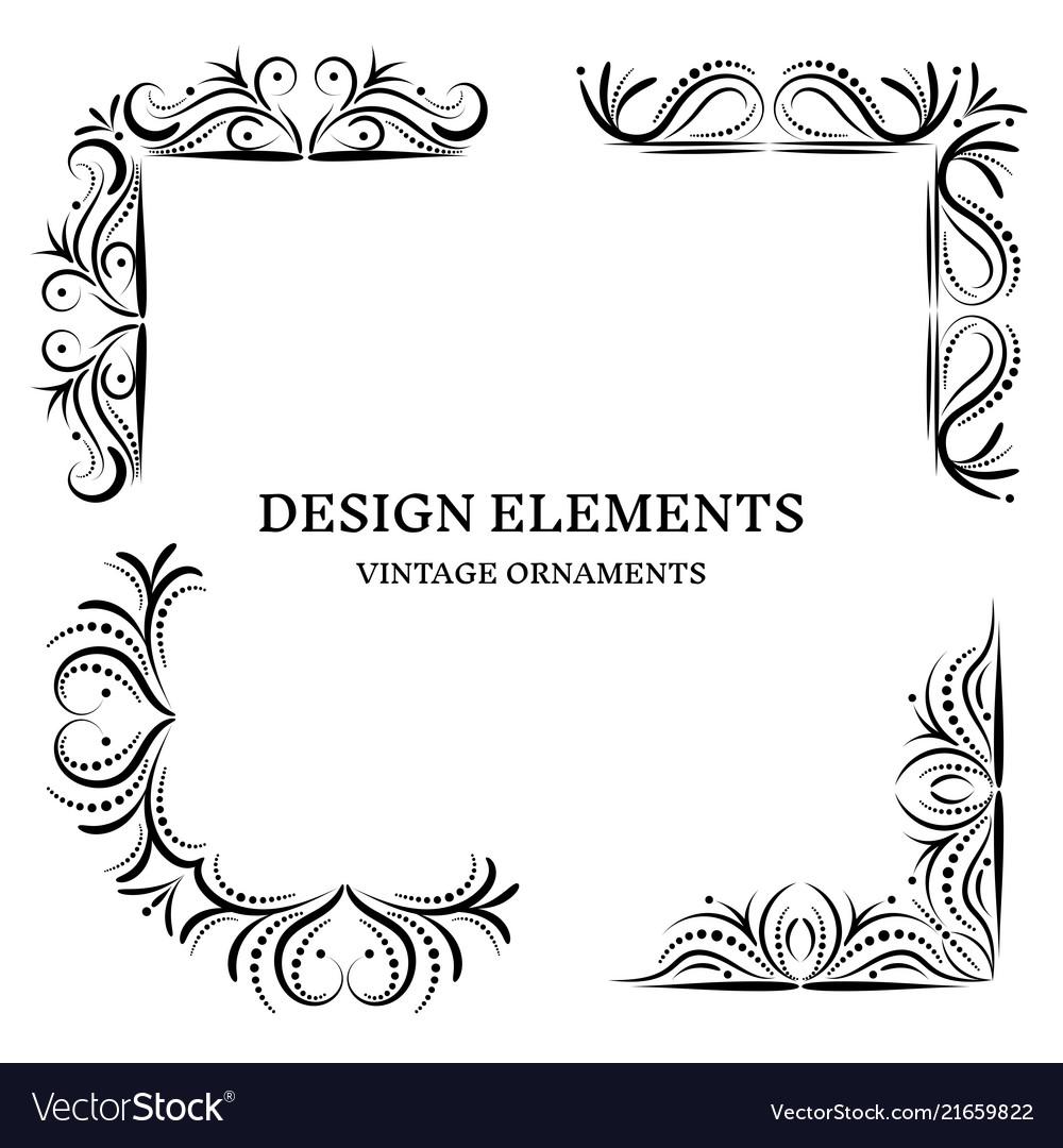 Vintage design oranamets corners set