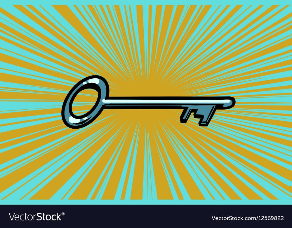 Vintage door key