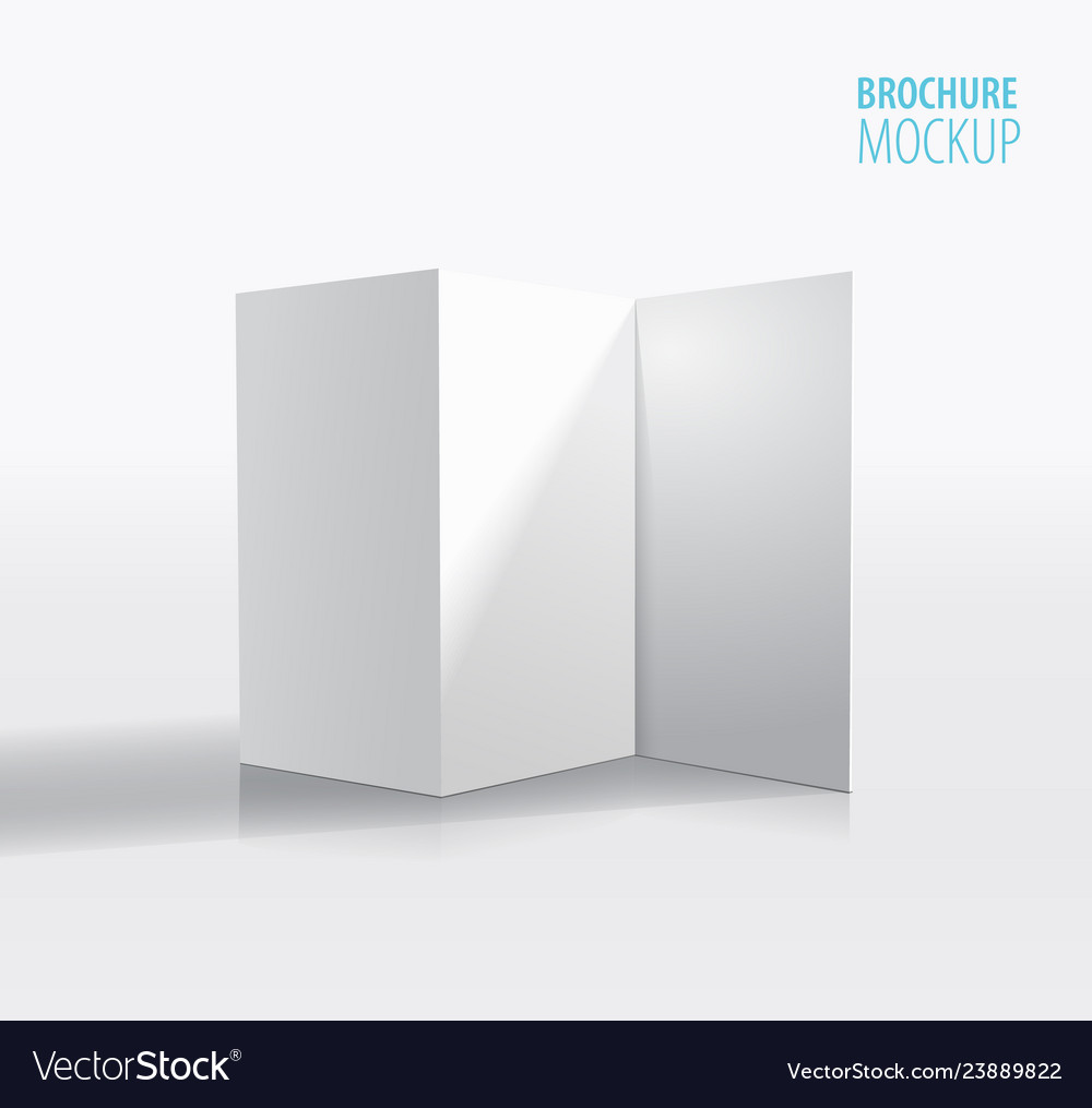 White brochure design isolated on greyrealistic