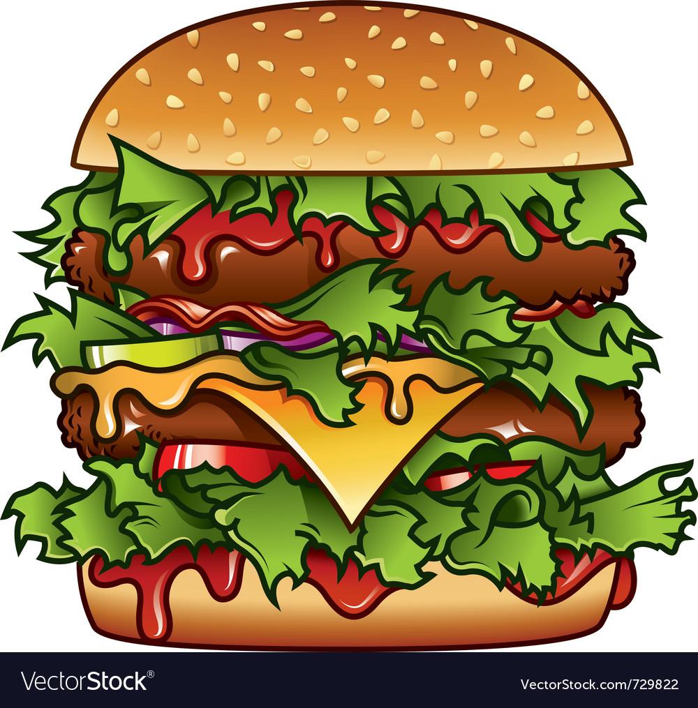 Xxxl burger vector image